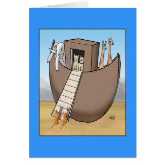 La arca de Noah - ningunos gatos permitidos Tarjeta De Felicitación