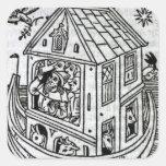 La arca de Noah Pegatina Cuadrada