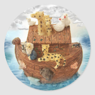 La arca de Noah Pegatina Redonda