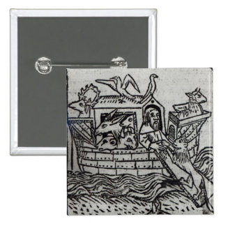 La arca de Noah Pin Cuadrada 5 Cm