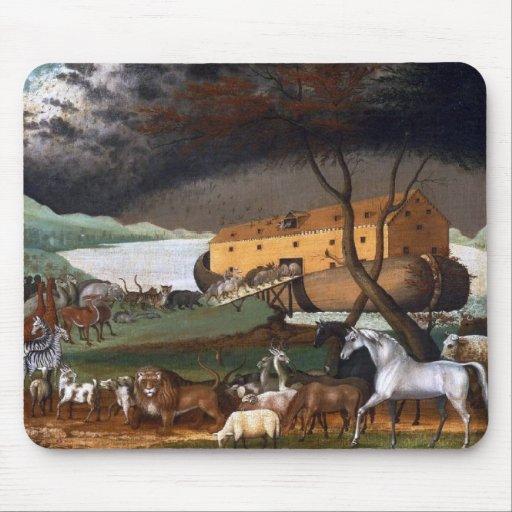 La arca de Noah - pintura por los catetos de Edwar Tapetes De Ratón