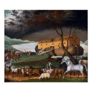 La arca de Noah por los catetos de Edward - circa  Póster