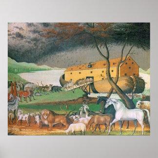 La arca de Noah por los catetos de Edward Póster