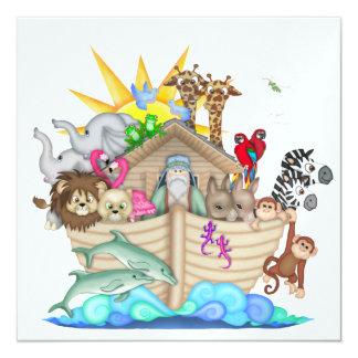"""La arca de Noah - SRF Invitación 5.25"""" X 5.25"""""""