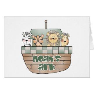 La arca de Noah Tarjeta De Felicitación