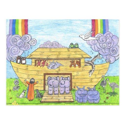 La arca de Noah Tarjetas Postales