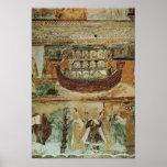 La arca durante la inundación, c.1100 de Noah Posters