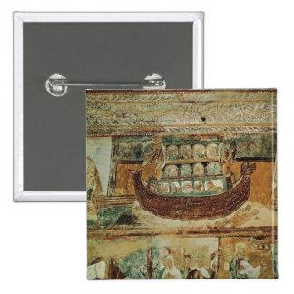 La arca durante la inundación, c.1100 de Noah Pin Cuadrado