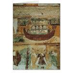 La arca durante la inundación, c.1100 de Noah Tarjetas