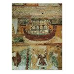 La arca durante la inundación, c.1100 de Noah Tarjetas Postales