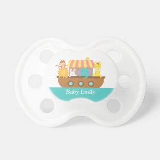 La arca, los animales lindos para el bebé o el chupetes para bebés