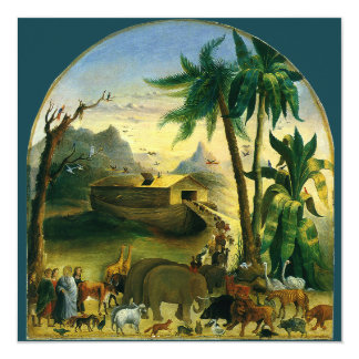 """La arca por Hidley, fiesta de Noah de cumpleaños Invitación 5.25"""" X 5.25"""""""