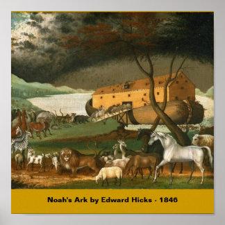 La arca por los catetos de Edward - 1846 de Noah Poster