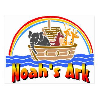 La arca y el arco iris de Noah Postales