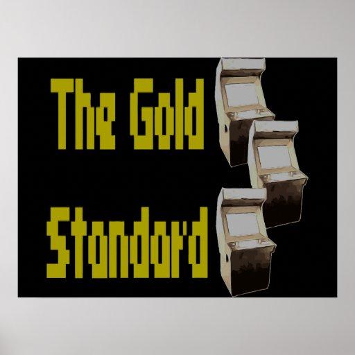 La arcada del patrón oro posters