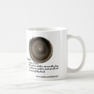 La arcilla del alfarero tazas de café