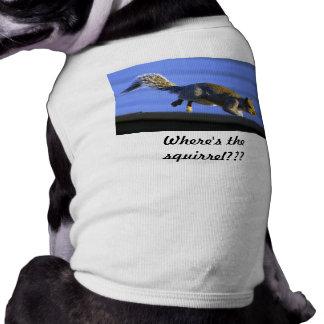 ¿La ardilla de salto, donde es la ardilla??? Camisa De Mascota