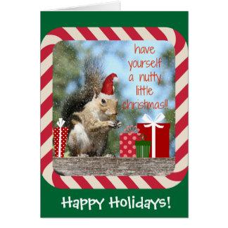 ¡La ardilla linda del navidad, tiene Navidad de Tarjeta De Felicitación