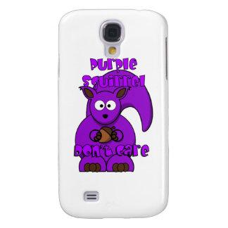 La ardilla púrpura no cuida