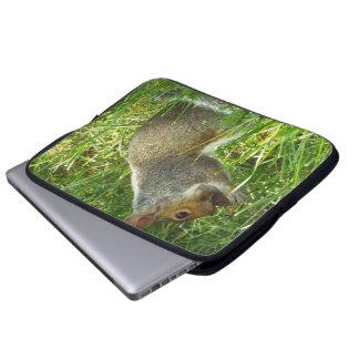 La ardilla y la manga del ordenador portátil de la funda computadora