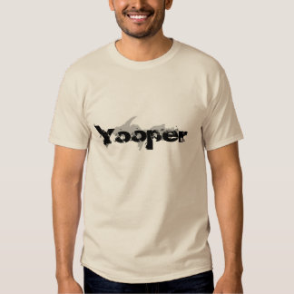 "La arena de ""Yooper"" coloreó la camiseta superior Poleras"