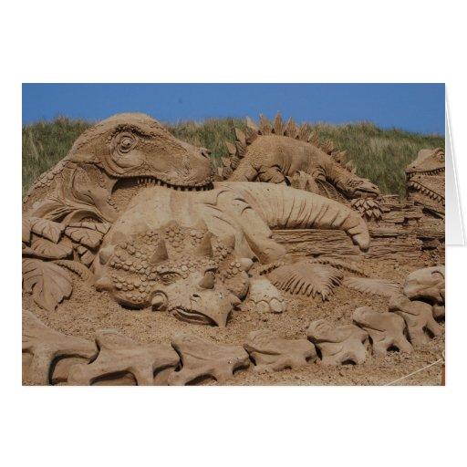 La arena esculpe el festival 2009 tarjeta de felicitación
