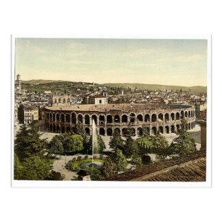 La arena, vintage Photochrom de Verona, Italia Postales