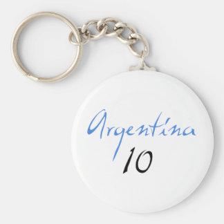 ¡La Argentina 10! Llavero Redondo Tipo Pin