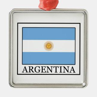 La Argentina Adorno Navideño Cuadrado De Metal