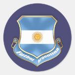La Argentina aviva la insignia del emblema del esc Etiqueta