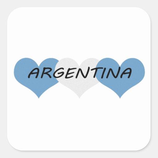 La Argentina Calcomanía Cuadradase