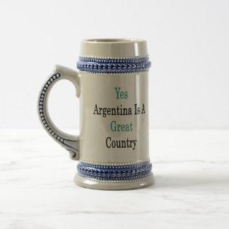 La Argentina es sí un gran país Tazas