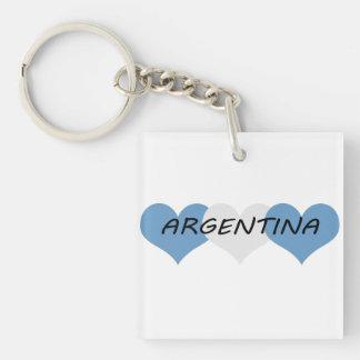La Argentina Llavero Cuadrado Acrílico A Doble Cara