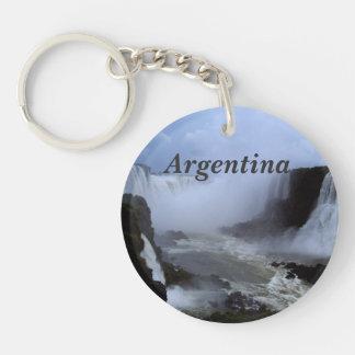 La Argentina Llavero Redondo Acrílico A Una Cara
