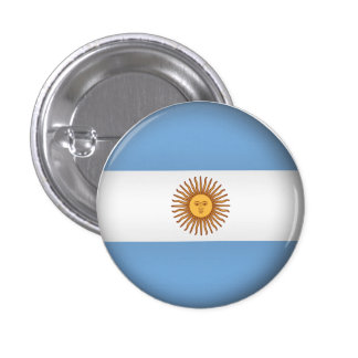 La Argentina redonda Pin Redondo De 1 Pulgada