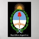 La Argentina Republica - poster del emblema Póster