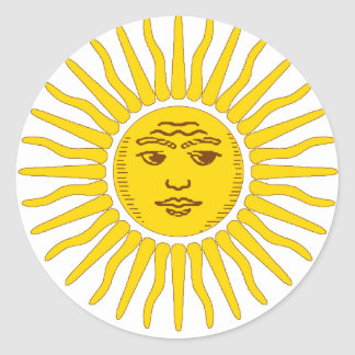 La Argentina Sun Pegatina Redonda