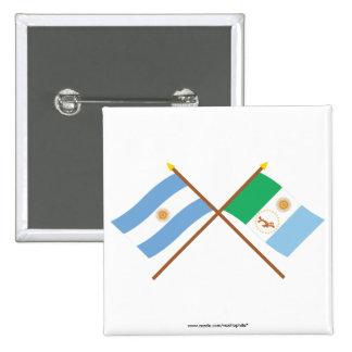 La Argentina y banderas cruzadas Chaco Pins