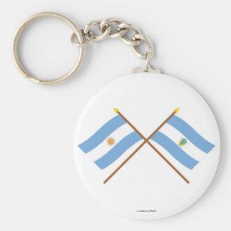 La Argentina y banderas cruzadas La Pampa Llavero