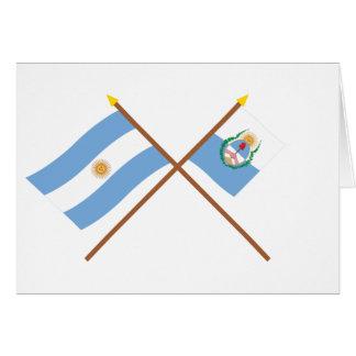 La Argentina y banderas cruzadas Mendoza Felicitación