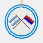La Argentina y banderas cruzadas Misiones Ornamentos Para Reyes Magos