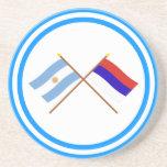 La Argentina y banderas cruzadas Misiones Posavasos Para Bebidas