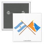 La Argentina y banderas cruzadas Tierra del Fuego Pin
