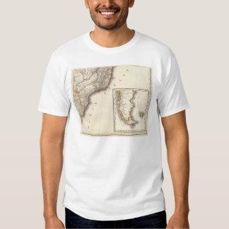La Argentina y mapa grabado Chile Camisas