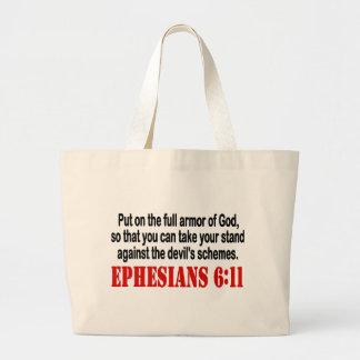 La armadura de dios bolsa lienzo