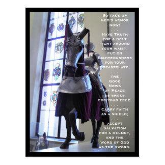 La armadura de dios (caballo) postal