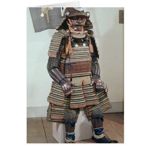 La armadura del guerrero del samurai tarjeta de felicitación