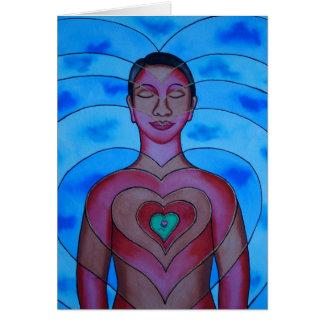 La armonía interna crea armonía exterior tarjeta de felicitación