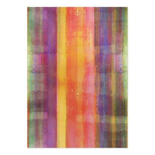 La armonía raya tarjetas de visita del arte abstra