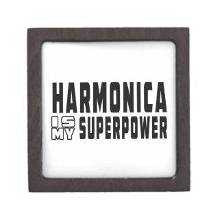 La armónica es mi superpotencia caja de joyas de calidad
